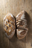 Rustic loaves of bread. Royalty Free Stock Photography
