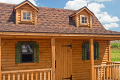 Rustic Log Cabin Stock Image