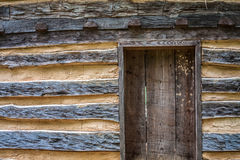 Rustic Log Cabin with Door Royalty Free Stock Photo