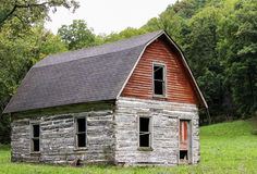 Rustic Log Cabin. An old log cabin in a pasture in Northeast Iowa royalty free stock photography