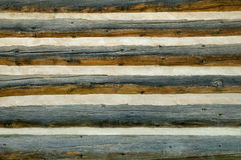 Rustic log cabin wall Stock Image