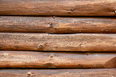Rustic Log Cabin Wall Background Stock Images