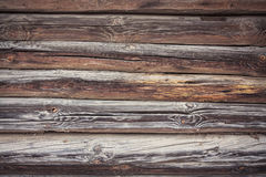 Rustic Log Cabin Wall Royalty Free Stock Photos