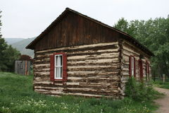 Rustic log home. A rustic log cabin is a typical western scene in Colorado in one of the many historical ghost towns Stock Photography
