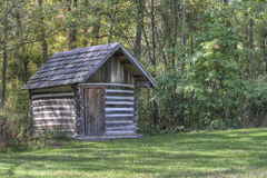 Rustic Log Outbuilding Stock Photo