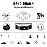 Rustic Logos and Illustrations Stock Photo