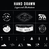 Rustic Logos and Illustrations Royalty Free Stock Photo