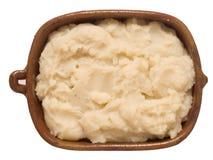 Rustic mash potato isolated Royalty Free Stock Photo