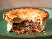 Rustic meat and mushroom pie Stock Image