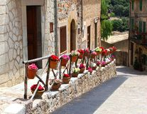 Rustic Mediterranean village Valldemossa, Spain royalty free stock photography