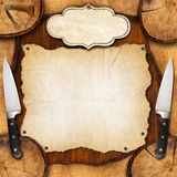 Rustic Menu Background Stock Photos
