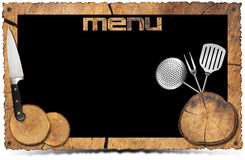 Rustic Menu Background - Photo Frame Stock Photos