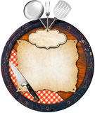 Rustic Menu Background Royalty Free Stock Images