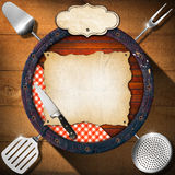 Rustic Menu Background Stock Photography