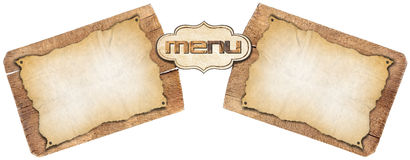 Rustic Menu Template Royalty Free Stock Photography