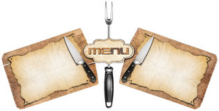 Rustic Menu Template Stock Photography