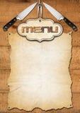 Rustic Menu Template Stock Images