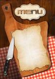 Rustic Menu Template Stock Image