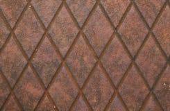 Rustic metal diamond texture Royalty Free Stock Photography