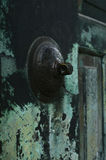 Rustic metal door and handle Royalty Free Stock Images