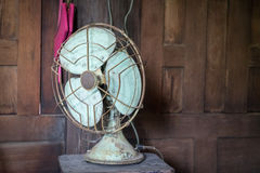 Rustic Metal Electic Fan Stock Images