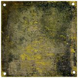 Rustic metal plate. With copy space - grainy surface Royalty Free Stock Image