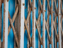 Rustic Metal Sliding Door Royalty Free Stock Photos