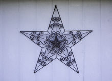 Rustic metal star Royalty Free Stock Images