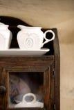 Rustic milk pot Stock Photos