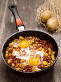 Rustic minced corned beef potato hash Stock Image