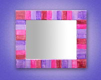 Rustic mirror craftsmanship Royalty Free Stock Photography