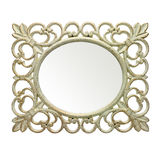 Rustic mirror frame Stock Photos