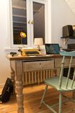 Rustic and modern home office stock images
