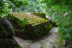 Rustic mossy house Stock Images