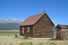Rustic mountain cabin. Rustic settlers cabin in the Rocky Mountains Stock Photography