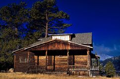Rustic Mountain Cabin in Colorado Royalty Free Stock Photo