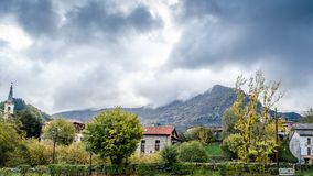 Rustic mountain village in northern Spain Royalty Free Stock Photography
