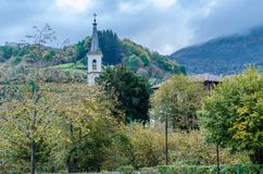 Rustic mountain village in northern Spain Royalty Free Stock Images