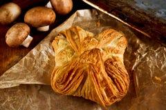 Rustic mushroom pie Stock Photo