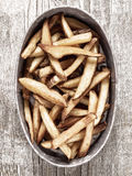 Rustic natural cut french fries Royalty Free Stock Images