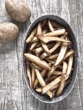 Rustic natural cut french fries Royalty Free Stock Photos