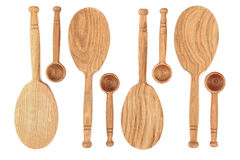 Rustic Oak Spoons Royalty Free Stock Photography