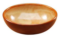 Rustic ocher bowl Stock Images