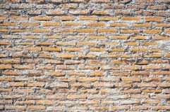 Rustic old background. Brick wall and cement rustic old background royalty free stock photography