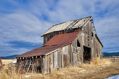 Rustic old Barn in the evening Royalty Free Stock Photography