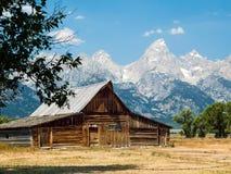 Rustic Barn and Tetons Stock Photos