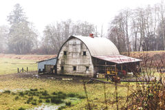 Rustic Old Barn in the Oregon Countryside Stock Image