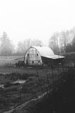 Rustic Old Barn in the Oregon Countryside Stock Photo