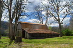 Rustic Old Barn in the Woods – Virginia, USA Stock Photos