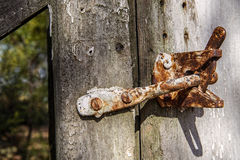Rustic old gate latch Royalty Free Stock Image